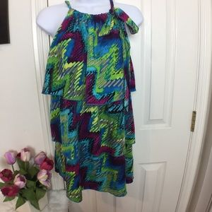 Lane Bryant Colorful Sleeveless Blouse Size 14/16W